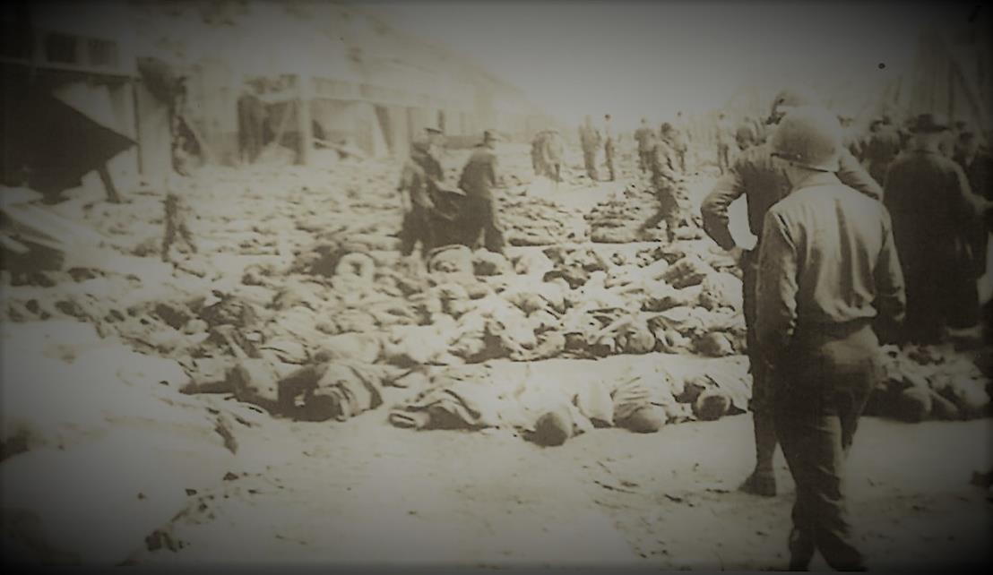 Corpses at Mittelbau Dora Concentration Camp WWII